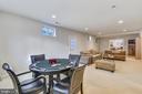 Lower Level: Open Living area w walk-up - 20449 SWAN CREEK CT, POTOMAC FALLS