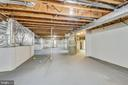 Unfinished basement with rough-in pluming - 514 MEADE DR SW, LEESBURG