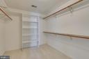 Master bedroom walk-in closet - 514 MEADE DR SW, LEESBURG