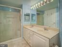 Master bath with separate shower & dual sinks - 19385 CYPRESS RIDGE TER #1103, LEESBURG