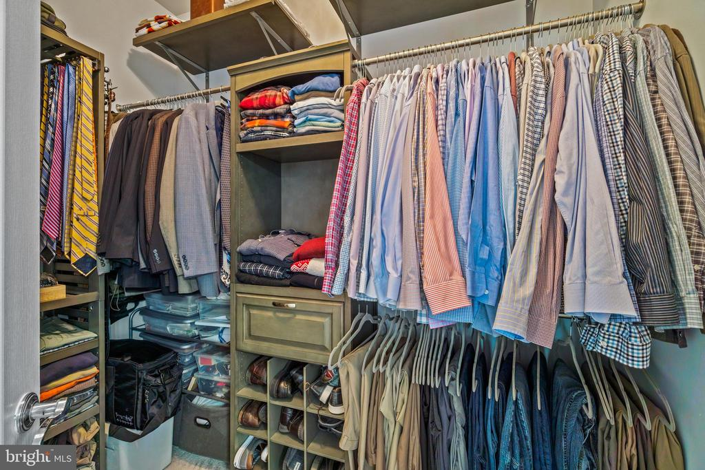 One of the Walk-in Closets with storage systems - 11924 RICKETTS BATTERY DR, BRISTOW