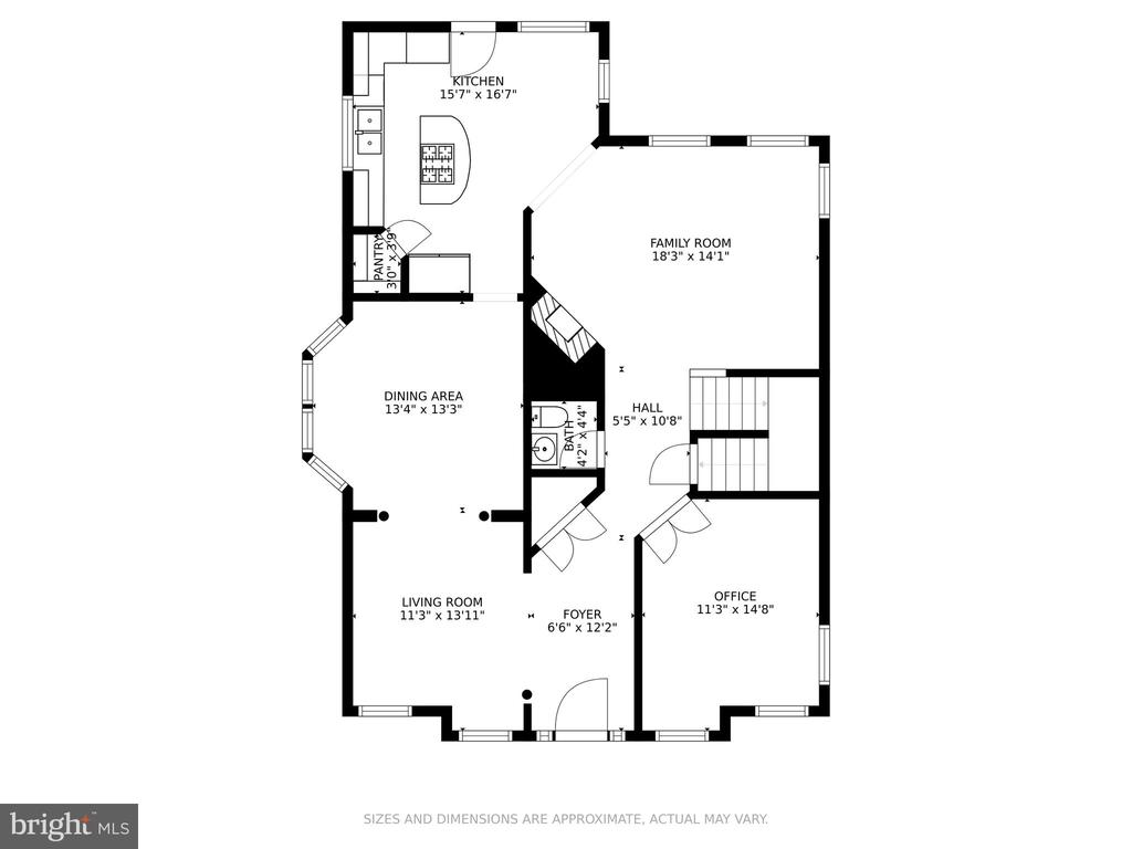 Main Floor Plan - 11924 RICKETTS BATTERY DR, BRISTOW