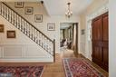 Foyer--stunning millwork, mahogany front door - 1901 ALLANWOOD PL, SILVER SPRING