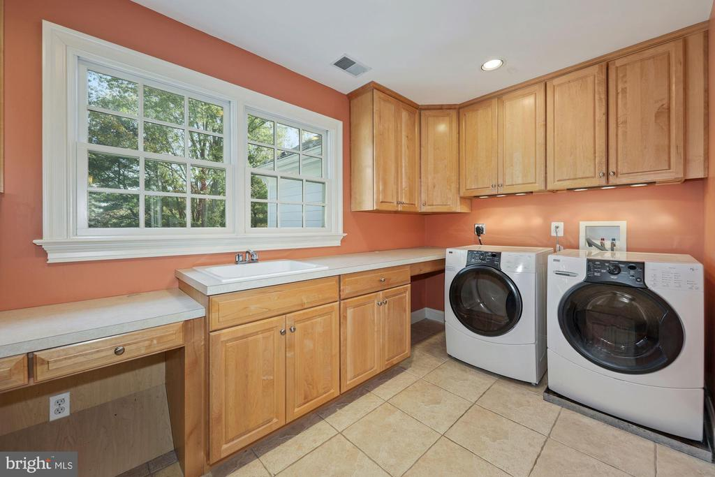 Laundry Rm on BR level w/utility sink, iron board - 1901 ALLANWOOD PL, SILVER SPRING