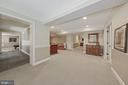 Lower level hall; Lounge; hall to Rec Room - 1901 ALLANWOOD PL, SILVER SPRING