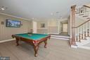 TV, Pool table convey, back hallway to rear yard - 1901 ALLANWOOD PL, SILVER SPRING
