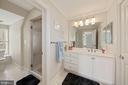Dual Entry full bath w/all tile shower - 1901 ALLANWOOD PL, SILVER SPRING
