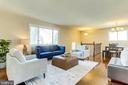 Large Living Room Area on Main Level - 5703 BELFAST LN, SPRINGFIELD