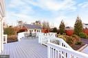 Large deck perfect for entertaining - 9401 OX RD, LORTON