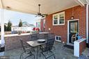 Main house covered patio w/ gas grill & fridge - 9401 OX RD, LORTON