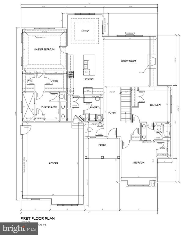 First floor layout - 7818-D OLD RECEIVER RD, FREDERICK