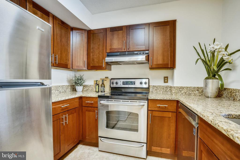 Gleaming stainless steel appliances - 2100 LEE HWY #344, ARLINGTON