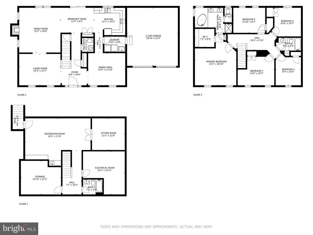 Floor Plan: All Levels - 6482 EMPTY SONG RD, COLUMBIA