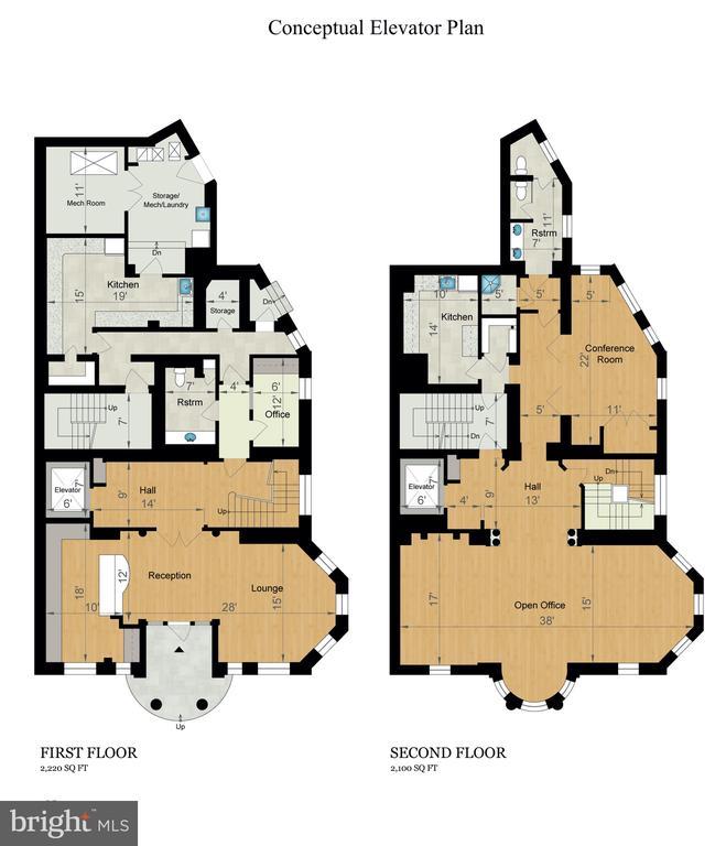 Conceptual Elevator Plan - 2301 CALVERT ST NW, WASHINGTON