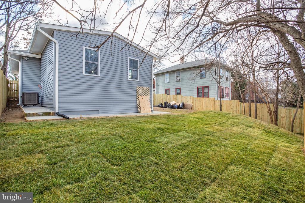 Backyard from back corner of fence - 4502 DIX ST NE, WASHINGTON