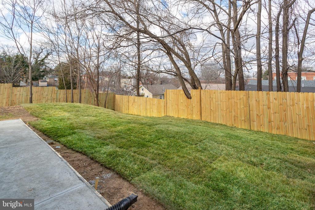 Backyard from back corner of house - 4502 DIX ST NE, WASHINGTON
