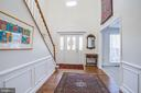 Sun streams through the foyer windows - 6102 NEW PEMBROOK LN, FREDERICKSBURG