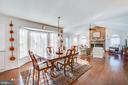 Hardwood floors gleam in the sunshine - 6102 NEW PEMBROOK LN, FREDERICKSBURG