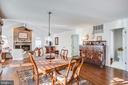 Breakfast area is lovely, too - 6102 NEW PEMBROOK LN, FREDERICKSBURG