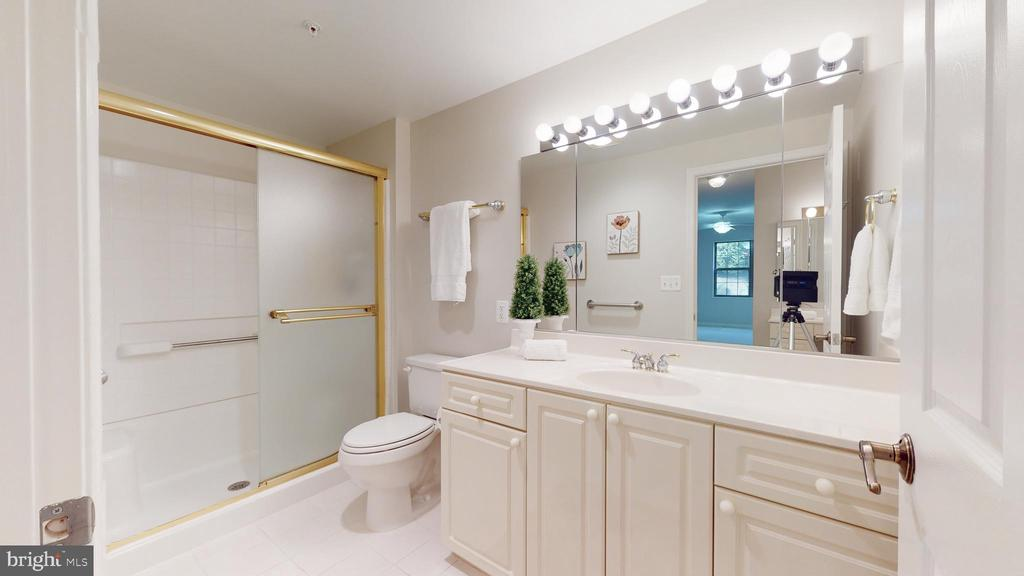 Primary Bath with Shower - 19350 MAGNOLIA GROVE SQ #103, LEESBURG