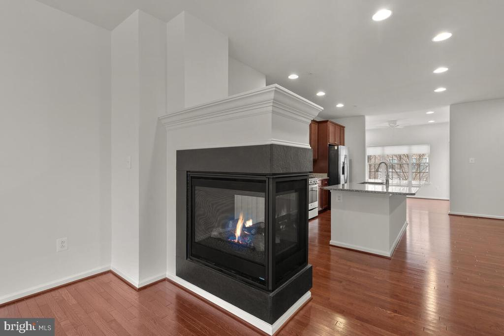 Three Sided Gas Direct Vent Fireplace - 7839 RIVER ROCK WAY, COLUMBIA