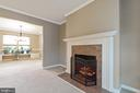 Faux fireplace in formal living room - 129 NORTHAMPTON BLVD, STAFFORD
