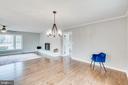 Large open living area - 9035 DAHLGREN RD, KING GEORGE