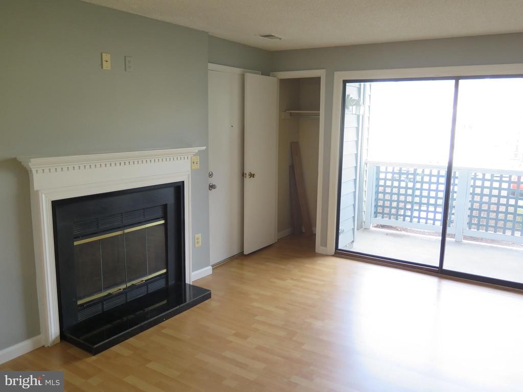 Living Room with FP, coat closet, SGD to balcony - 11705-C SUMMERCHASE CIR #1705-C, RESTON