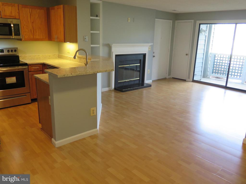 Freshly painted in grayscale + white throughout. - 11705-C SUMMERCHASE CIR #1705-C, RESTON