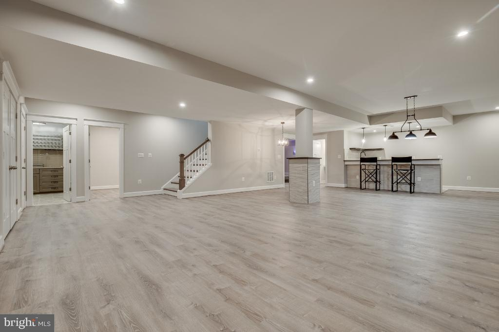 Lower level Entertainment Area - 6723 VALLEY BROOK DR, FALLS CHURCH