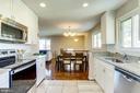 Kitchen w/ Granite & New Range & Refrigerator - 5703 BELFAST LN, SPRINGFIELD