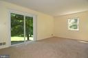 BEDROOM 3 w DOORS TO REAR PATIO - 10215 HUNTER VALLEY RD, VIENNA