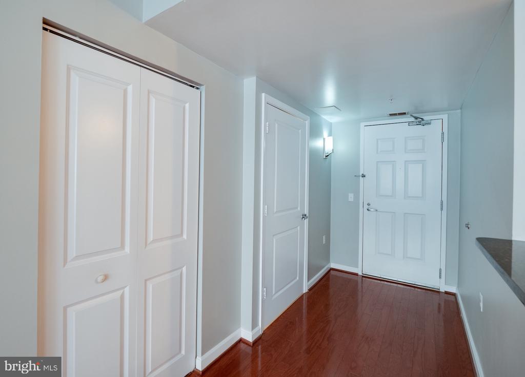Entry way with large coat closet.  2nd bath door - 880 N POLLARD ST #201, ARLINGTON