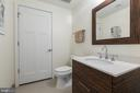Main level half bath and laundry closet - 1700 CLARENDON BLVD #157, ARLINGTON
