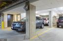 Tandem parking space w/storage closet. - 1700 CLARENDON BLVD #157, ARLINGTON