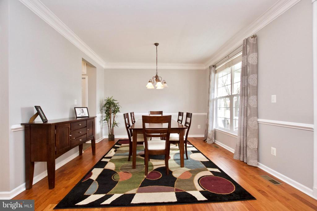 Formal Dining Room is spacious and light-filled - 42630 HARRIS ST, CHANTILLY