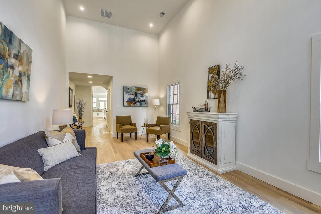 Main Entry into Living Room with 14 foot ceilings - 309 N PATRICK ST, ALEXANDRIA