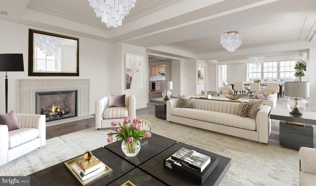 Comfortable Living Room - 2660 CONNECTICUT AVE NW #PH-D, WASHINGTON