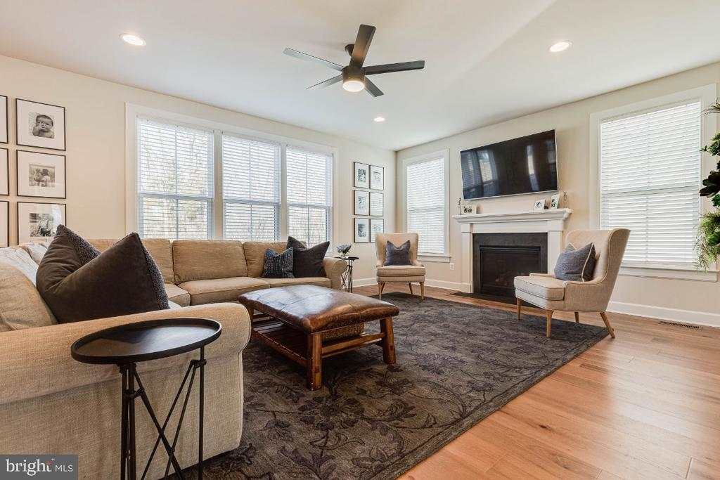 Family Room with Gas Fireplace - 23581 AMESFIELD PL, ALDIE