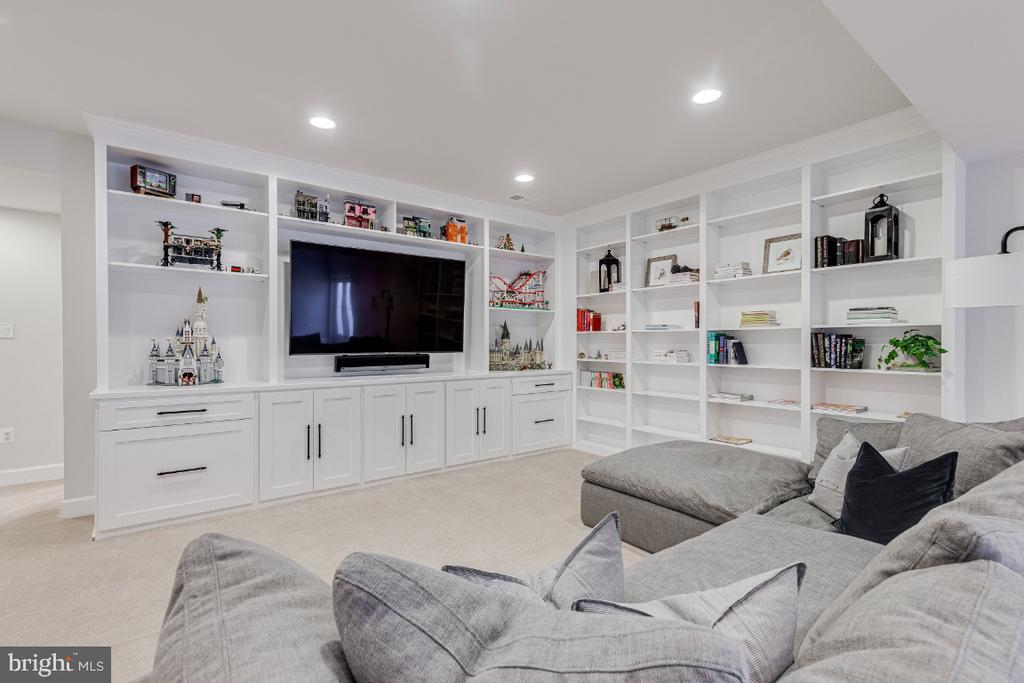 Spacious Rec Room w/ Custom Built Shelving - 23581 AMESFIELD PL, ALDIE