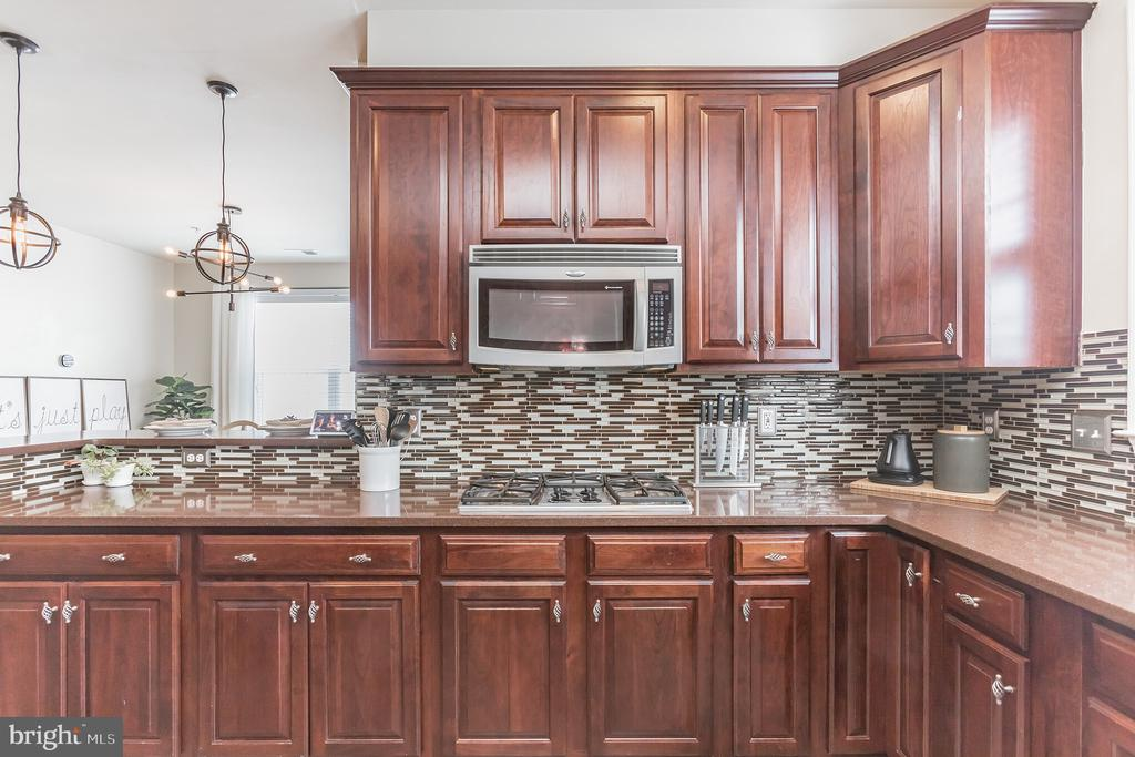 Kitchen spills over to eating area and porch - 22702 VERDE GATE TER, ASHBURN