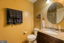 Main level bath with shower stall - 24 CARDINAL DR, FREDERICKSBURG