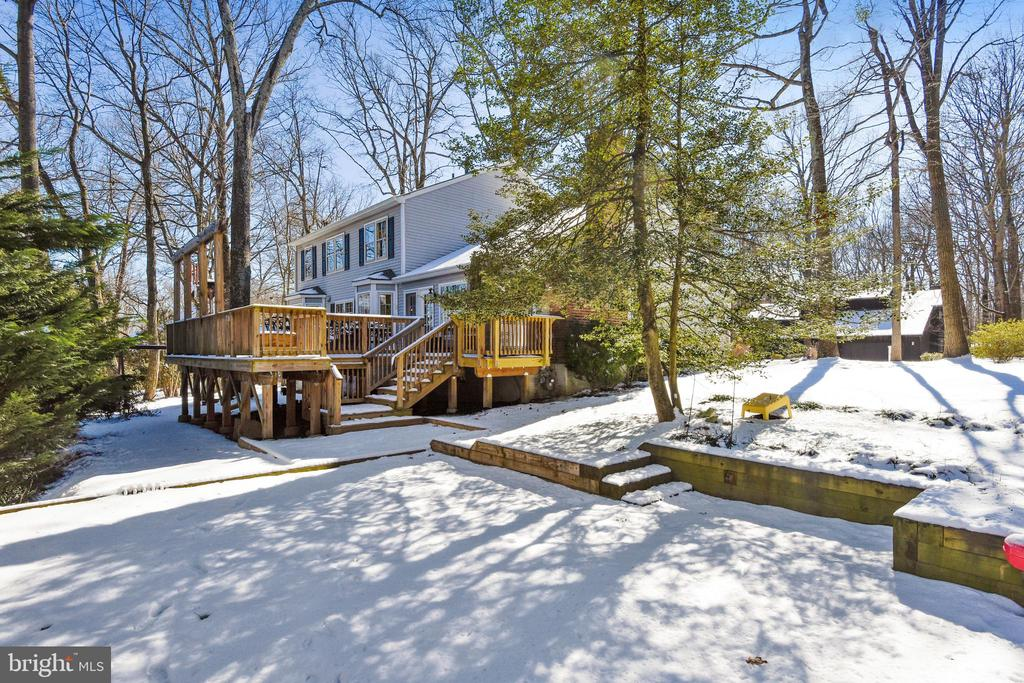Rear Yard and Deck - 11588 LAKE NEWPORT RD, RESTON