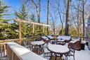 Even is a snow storm, this deck is AMAZING! - 11588 LAKE NEWPORT RD, RESTON
