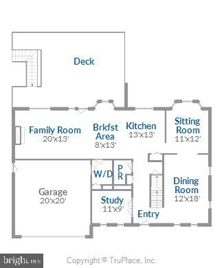 Main Level Floor Plan - 11588 LAKE NEWPORT RD, RESTON
