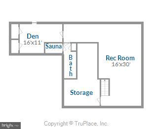 Lower Level Floor Plan - 11588 LAKE NEWPORT RD, RESTON