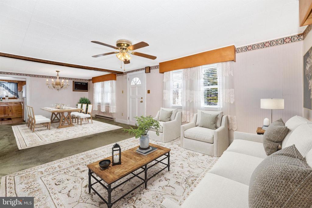 Virtually Staged living room - 12216 AUBURN RD, THURMONT