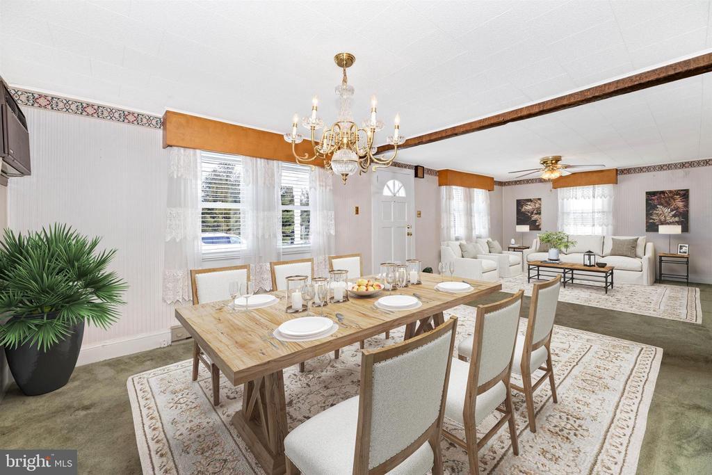 Virtually Staged Dining room - 12216 AUBURN RD, THURMONT