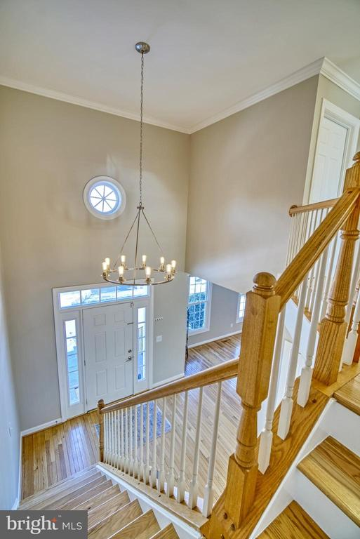 Open Staircase Leads to Bedroom Level - 21033 FOWLERS MILL CIR, ASHBURN