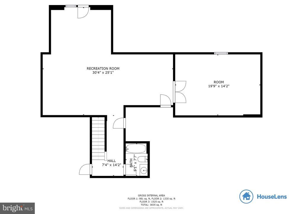 Basement Floorplan - 8353 LONGFIELDS LN, ALEXANDRIA